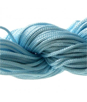 Fil nylon 1 mm pour bracelet shamballa écheveau de 24 mètres - Bleu ciel