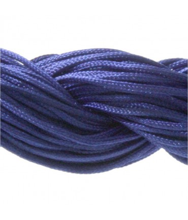 Fil nylon 1 mm pour bracelet shamballa écheveau de 24 mètres - Bleu royal