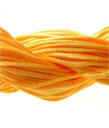Fil nylon 1 mm pour bracelet shamballa écheveau de 24 mètres - Orange fluo