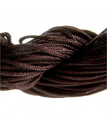 Fil nylon 1 mm pour bracelet shamballa écheveau de 24 mètres - Marron