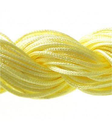 Fil nylon 1 mm pour bracelet shamballa écheveau de 24 mètres - Jaune
