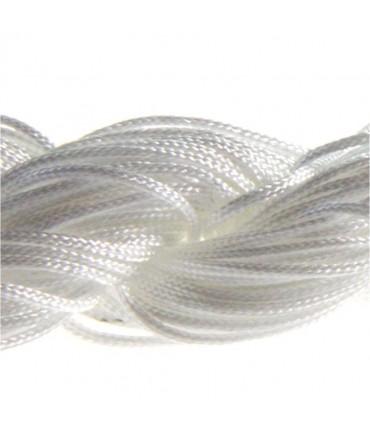 Fil nylon 1 mm pour bracelet shamballa écheveau de 24 mètres - Blanc