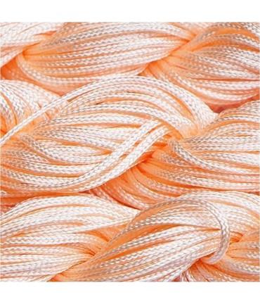 Fil nylon 1 mm pour bracelet shamballa écheveau de 24 mètres - Saumon