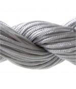 Fil nylon 1 mm pour bracelet shamballa écheveau de 24 mètres - Gris
