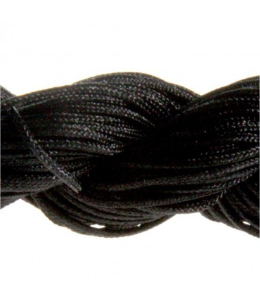 Fil nylon 1 mm pour bracelet shamballa écheveau de 24 mètres - Noir