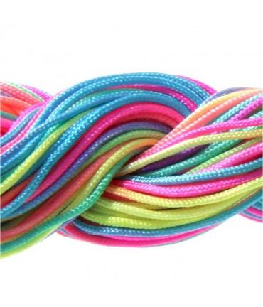 Fil nylon 1 mm pour bracelet shamballa écheveau de 24 mètres - Multicolore