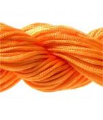 Fil nylon 1 mm pour bracelet shamballa écheveau de 24 mètres - Orange