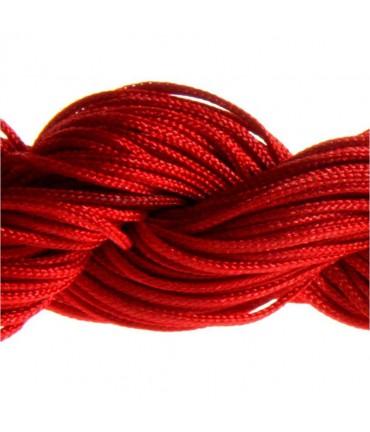 Fil nylon macramé 1,5 mm (12 mètres) - Rouge