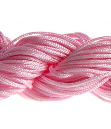 Fil nylon macramé 1,5 mm (12 mètres) - Rose