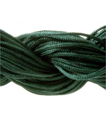 Fil nylon macramé 1,5 mm (12 mètres) - Emeraude