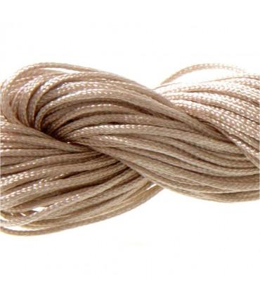 Fil nylon macramé 1,5 mm (12 mètres) - Brun
