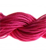 Fil nylon macramé 1,5 mm (12 mètres) - Rose vif