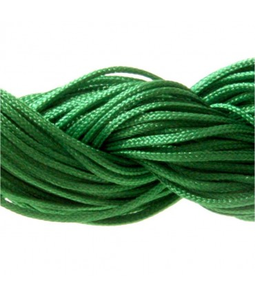 Fil nylon macramé 1,5 mm (12 mètres) - Vert