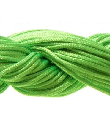 Fil nylon macramé 1,5 mm (12 mètres) - Vert fluo