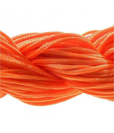Fil nylon macramé 1,5 mm (12 mètres) - Orange vif