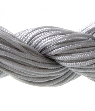 Fil nylon macramé 1,5 mm (12 mètres) - Gris