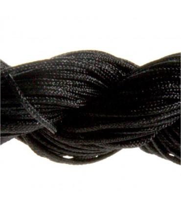Fil nylon macramé 1,5 mm (12 mètres) - Noir