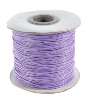 Fil coton ciré 1 mm en bobine de 80 mètres - Mauve