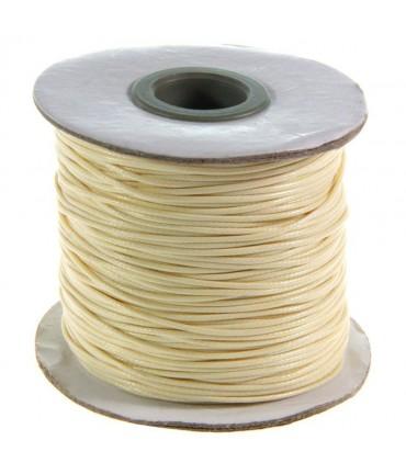 Fil coton ciré 1 mm en bobine de 80 mètres - Beige