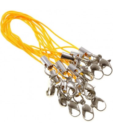 Attaches portable dragonne avec mousqueton (10 pièces) - Orange