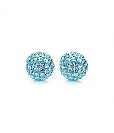Perles shamballa rondes 50 strass en cristal 8 mm (5 pièces)