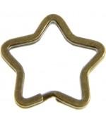 Anneaux porte clé Etoile (5 pièces)