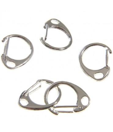 Mousqueton anneau porte clé (5 pièces)