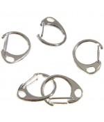 Mousqueton anneau porte clé (5 pièces) - Argenté