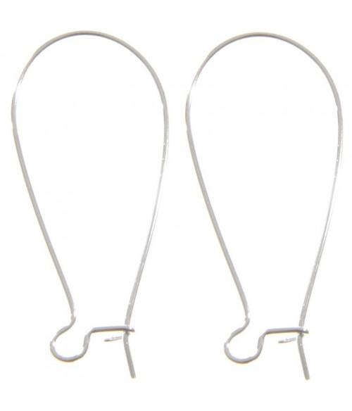 Attache boucle d'oreille crochet 38 mm (50 pièces)