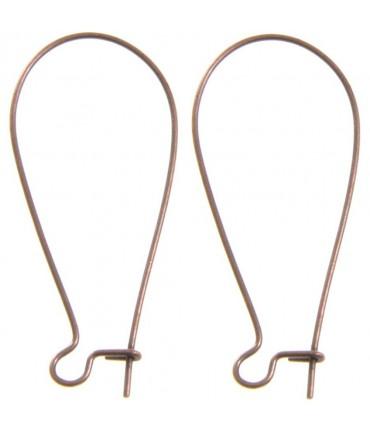 Attache boucle d'oreille crochet 38 mm (50 pièces) - Cuivre