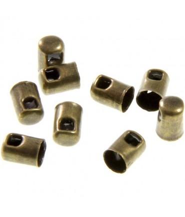 Embout cordon à coller 5 mm (50 pièces) - Bronze