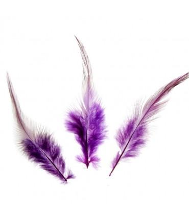 Plume d'autruche colorée GM (20 pièces) - Violet