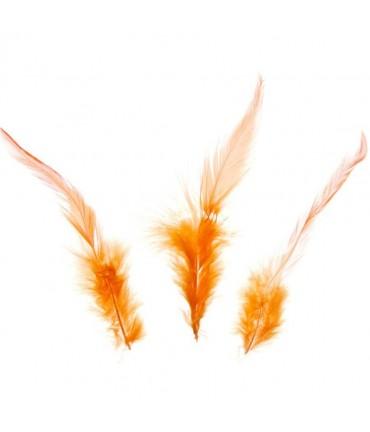 Plume d'autruche colorée (20 pièces) - Orange