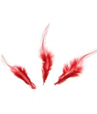 Plume d'autruche colorée (20 pièces) - Rouge