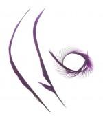 Plumes pour bijoux colorée (20 pièces) - Violet