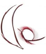 Plumes pour bijoux colorée (20 pièces) - Bordeaux