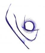 Plumes pour bijoux colorée (20 pièces) - Bleu marine