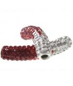Perles shamballa tubes bicolores dégradées 50 mm (1 pièce)
