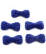 Nœud pour bijoux velours à coller (5 pièces) - Bleu royal