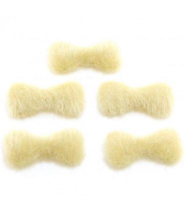 Nœud pour bijoux velours à coller (5 pièces) - Jaune