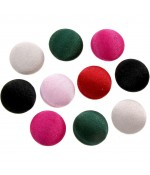 Bouton satin à coller grand forme ronde (10 pièces) - Multicolore