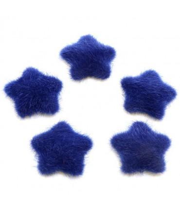 Bouton étoile velours à coller accessoire bijoux (5 pièces)