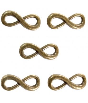 Connecteurs bracelets Infinity (5 pièces) - Bronze