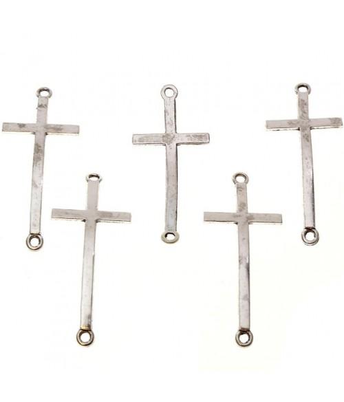 Connecteurs bracelets Croix (5 pièces)