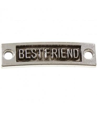 Connecteur plaques Best friend (5 pièces) - Gris