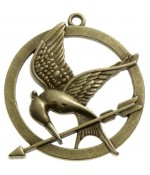 Breloque pendentif grand Hunger Game - Bronze
