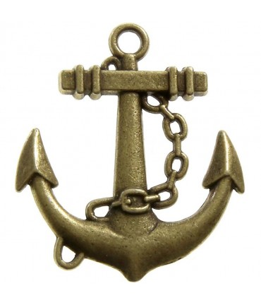 Breloque pendentif Ancre chaîne (5 pièces)
