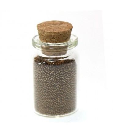 Microbilles caviar irisées en fiole - Marron
