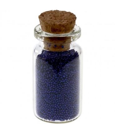 Microbilles caviar irisées en fiole - Bleu royal