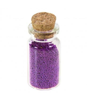 Microbilles caviar irisées en fiole - Magenta foncé